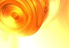 Orange dream 02. A Study of Form&Colors, rendered in Bryce Royalty Free Stock Images