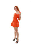 Orange dress Stock Images