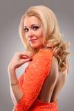 Orange dress Royalty Free Stock Photos