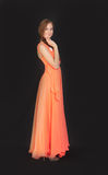 Orange dress Royalty Free Stock Image