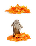 Orange dried peel. Royalty Free Stock Image