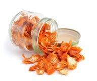 Orange dried peel. Stock Photography