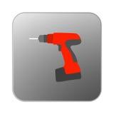 Orange drillborr för vektorsymbol Arkivbilder