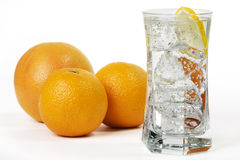 Orange with Drink Royalty Free Stock Images