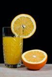 Orange drink för fruktfruktsaft, sodavatten, arkivbilder