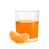 Orange drink with fruit segment Royalty Free Stock Image