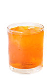 Orange drink with ice Royalty Free Stock Image