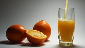 Orange drink. stock video