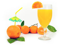 Orange drinks Royalty Free Stock Photography