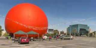 Orange drive-in Stock Image
