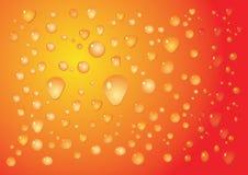 Orange drop background Royalty Free Stock Photos