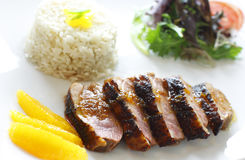 Orange duck meal Stock Images