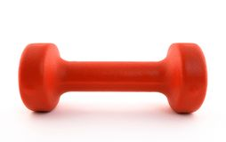 Orange dumbbell Stock Photos