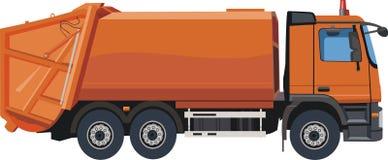 Orange dump truck stock illustration