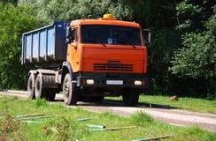 Orange Dump Truck Stock Photo