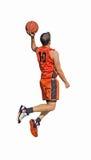 Orange dunk on white Royalty Free Stock Images