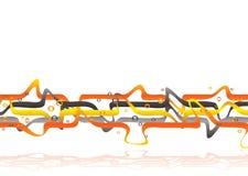 Orange Durcheinander Stockfotografie