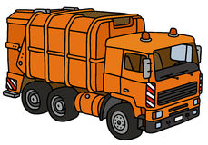 Orange dustcart Royalty Free Stock Photos