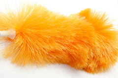 Orange duster. Isolated orange duster in the house Stock Photos