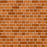 Orange Dutch Clay Brick Wall Seamless Texture Stock Photography