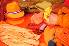 Orange dutch clothing Royalty Free Stock Photos