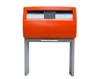 Orange Dutch public mailbox Royalty Free Stock Photo