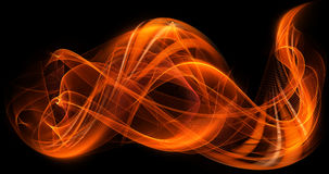 Orange dynamic colors abstract modern flame background Stock Photos