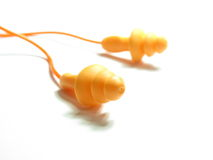 Orange ear plug Stock Photography