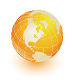 Orange earth royalty free stock photos