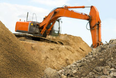 Orange earth mover Royalty Free Stock Photos