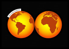 Orange Earth. Vector Stock Photo