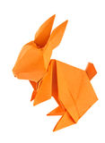 Orange easter bunny of origami. Stock Images