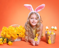Orange easter Royalty Free Stock Images