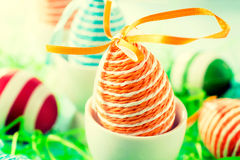 Orange Easter egg Royalty Free Stock Photo