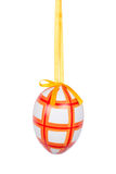 Orange Easter egg isolated on white background Stock Images