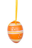 Orange Easter egg isolated on white background Stock Image