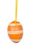 Orange Easter egg isolated on white background Stock Image