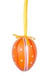 Orange Easter egg isolated on white background Royalty Free Stock Images
