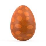 Orange easter egg isolated on white Stock Images