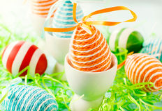 Orange Easter egg Royalty Free Stock Photography