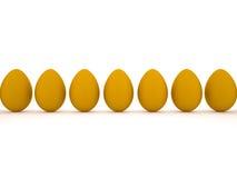 Orange easter eggs. Orange easter eggs  on white background Royalty Free Stock Photo