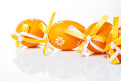 Orange Easter eggs Stock Photography
