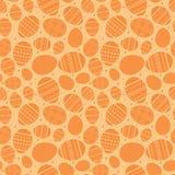 Orange easter sömlös modell med dekorerade easter ägg Royaltyfri Fotografi