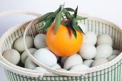 Orange and eggs Stock Image