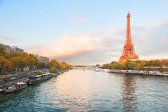 Orange Eiffel tower Royalty Free Stock Photo