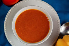 Orange Eignungssuppe Stockbild