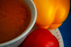 Orange Eignungssuppe Stockfotos