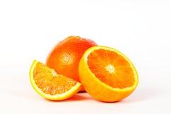 Orange, eine Hälfte und ein Stück 3 Stockfotos