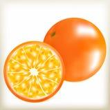 Orange eine natürliche Nutzpflanze-, saftige und reifesüdliche Frucht, geschmackvolles Lebensmittel in Form einer orange Frucht,  Stockbild