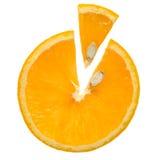 Orange eine Scheibe Lizenzfreie Stockbilder